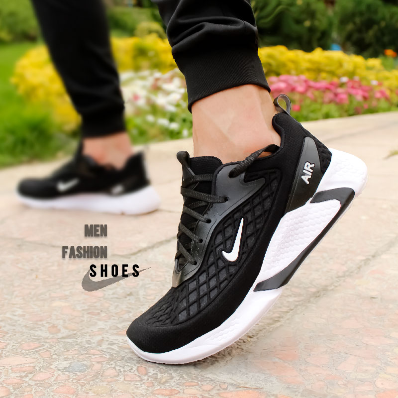 عکس محصول کفش مردانه Nike مدل Ruppo (مشکی سفید)