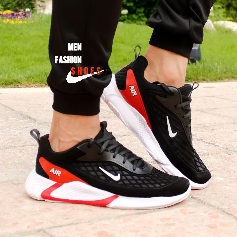 عکس محصول کفش مردانه Nike مدل Ruppo (مشکی قرمز)
