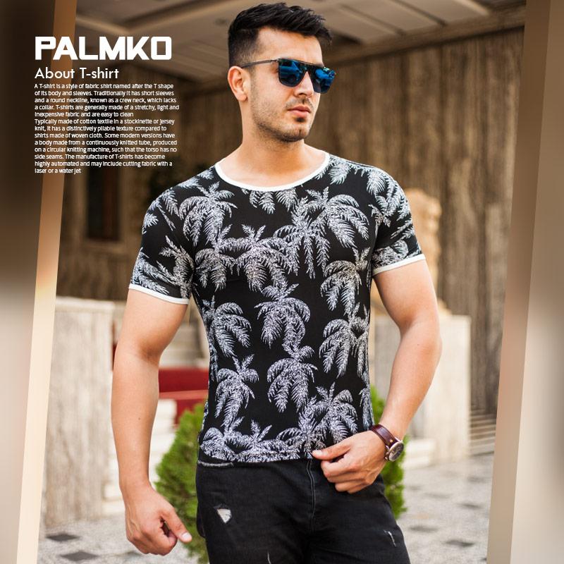 تیشرت مردانه هاوایی مدل Palmko