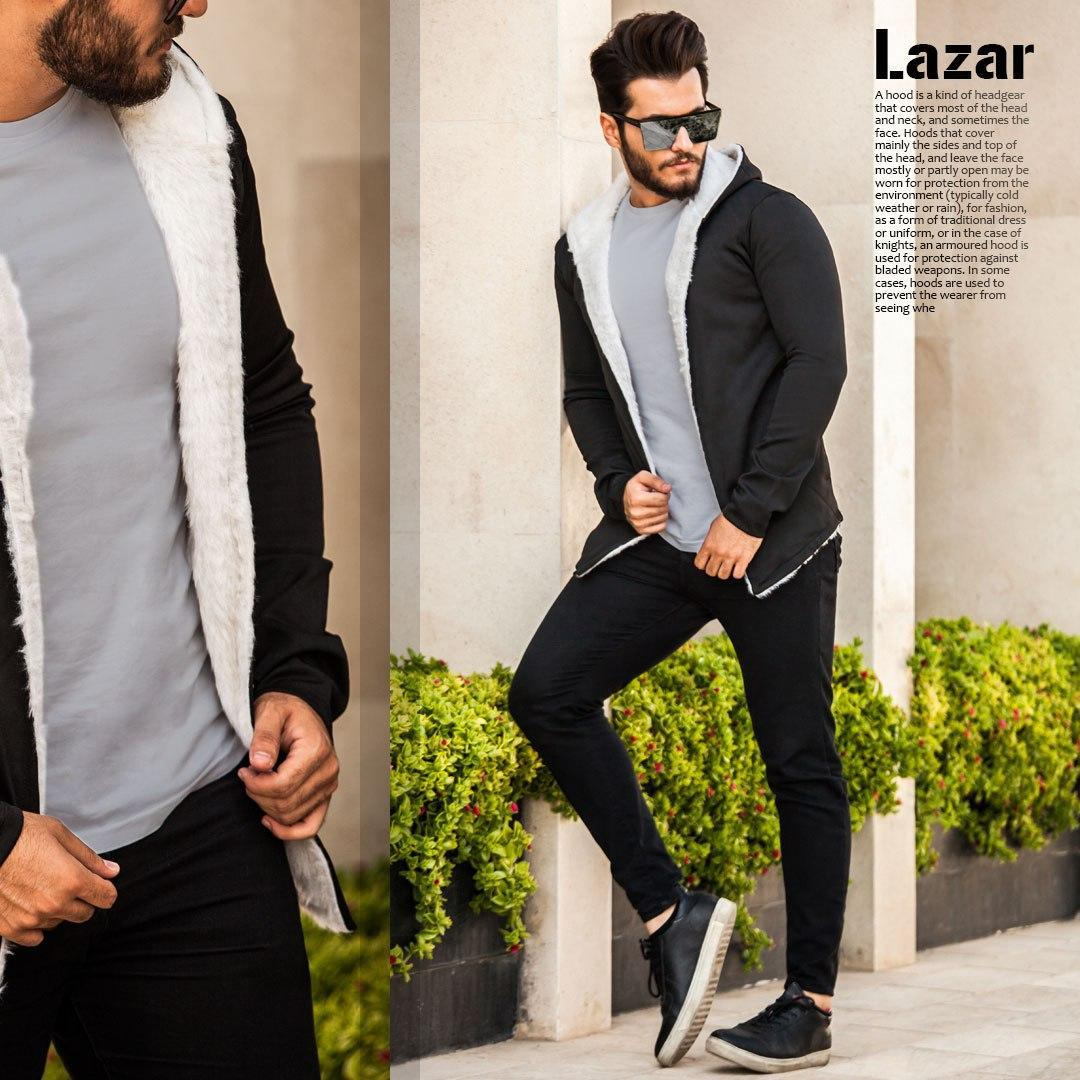 هودی خزدار مردانه  مدل Lazar