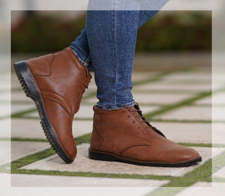 کفش ساقدار مردانه Bio(عسلی)