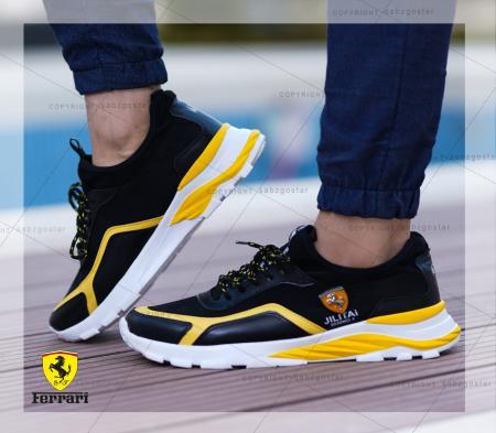 کفش مردانه Ferrari مدل JILITAi(زرد و مشکی)