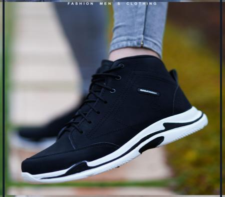 کفش ساقدار Balenciagaمدل Hoka(مشکی)