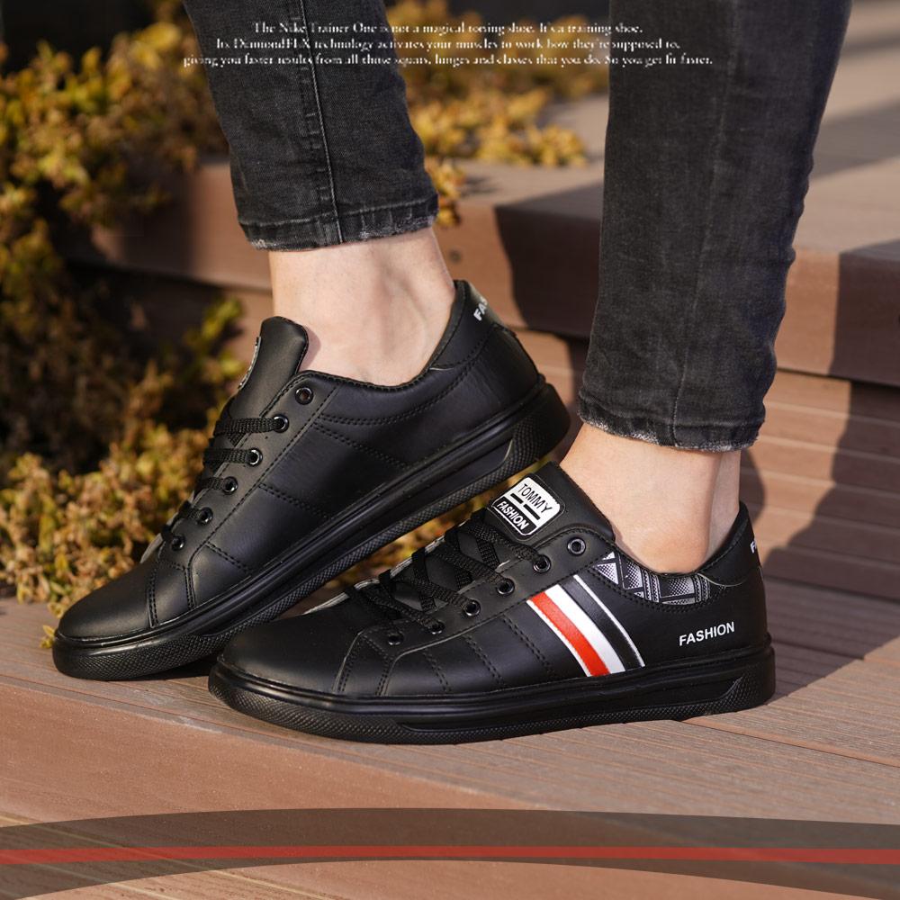 کفش مردانه tommyمدل Franc(مشکی)