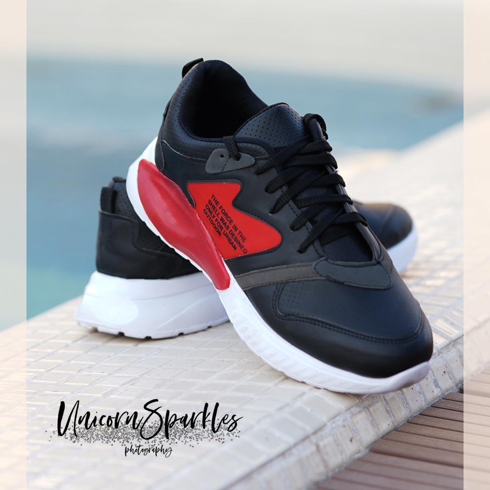 کفش مردانه shel (مشکی قرمز)