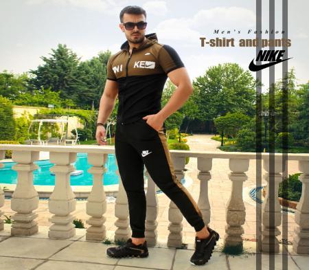ست تیشرت و شلوار مردانه Nikeمدل Hero(سبز)