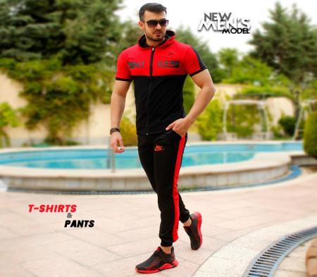 ست تیشرت و شلوار مردانه Nike مدلHero (قرمز)