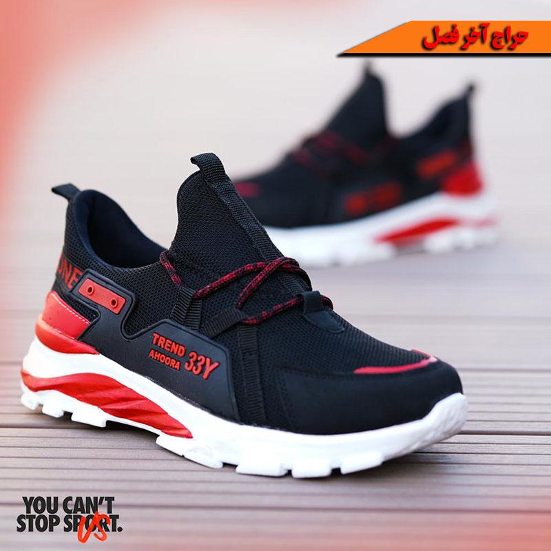 کفش مردانه مدل Y33(مشکی قرمز)