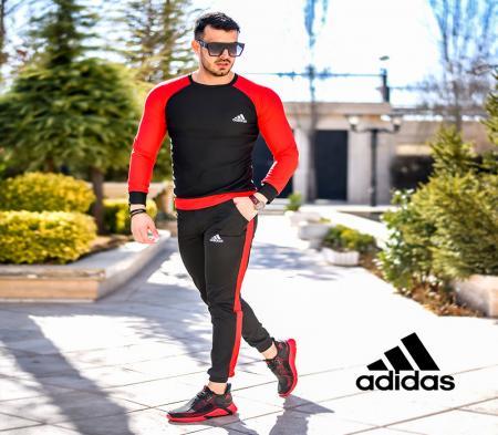 ست بلوز و شلوار adidas مدل Pease(قرمز)