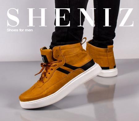 کفش ساقدار مردانه Sheniz (عسلی)